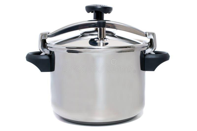 pressão de aço inoxidável que cozinha a bandeja imagens de stock royalty free