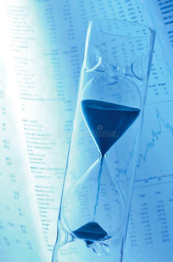 Pressão de tempo do mercado de valores de acção fotografia de stock