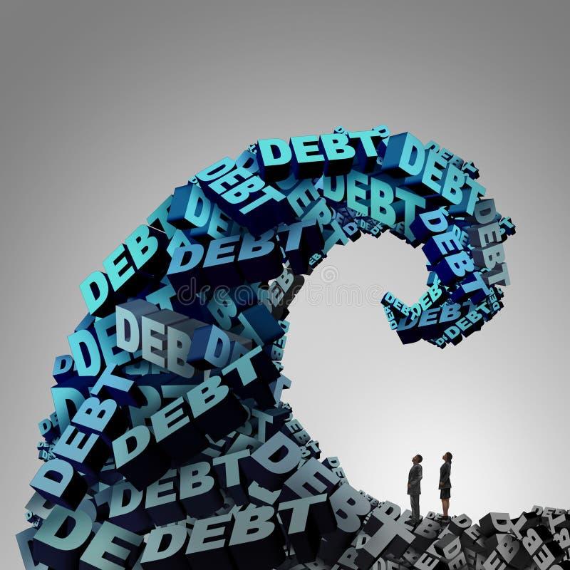 Pressão do débito ilustração royalty free