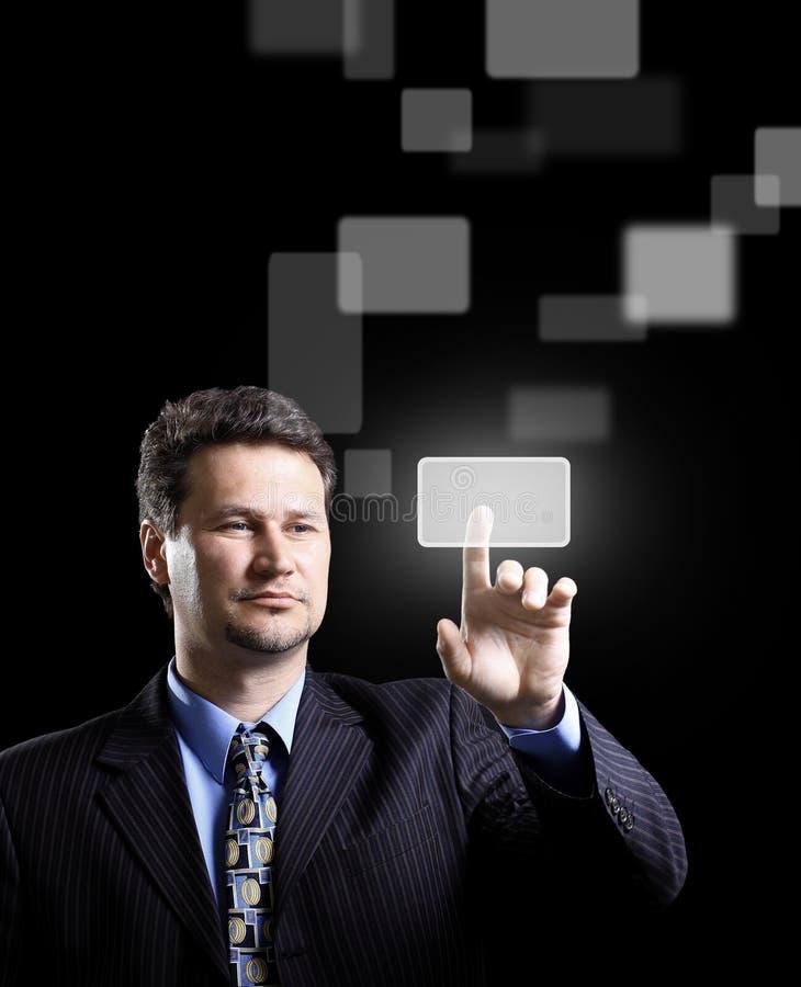 Pressão do homem de negócio foto de stock