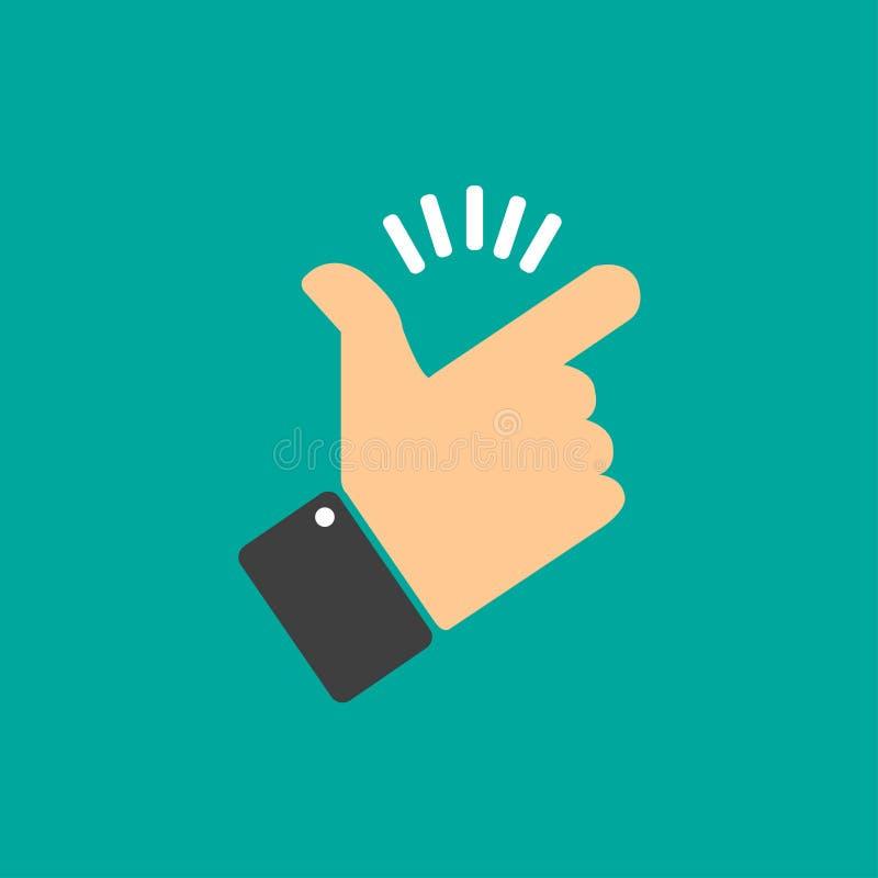 Pressão dos dedos ilustração stock