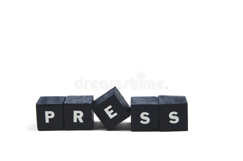 Press Royalty Free Stock Photography