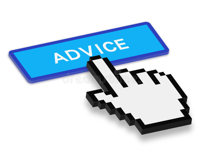 Press Advice Button vector illustration