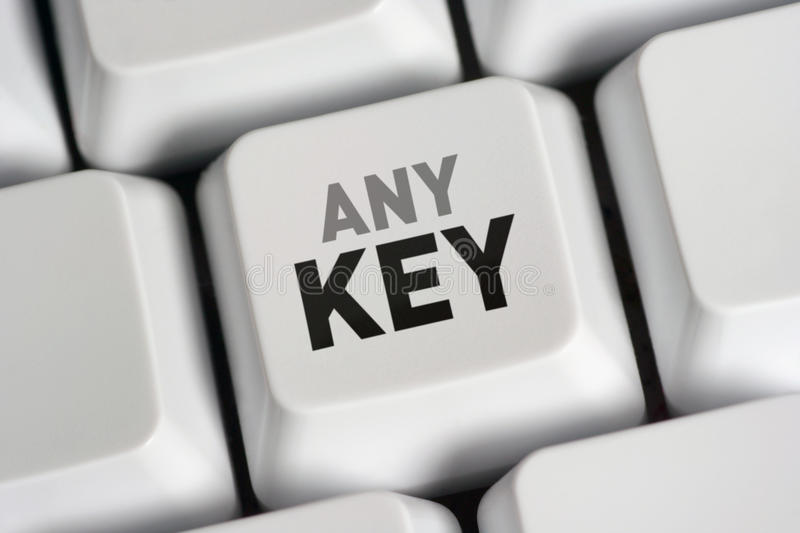 Download Press Any Key stock image. Image of installation, pressing - 10817013