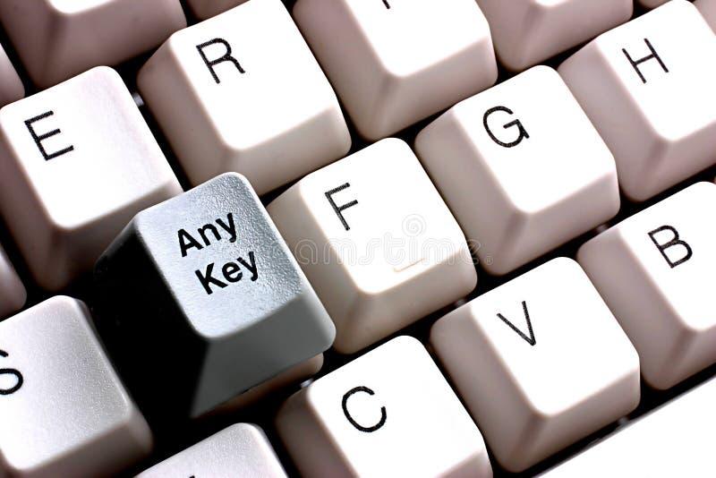 Press Any Key Stock Images