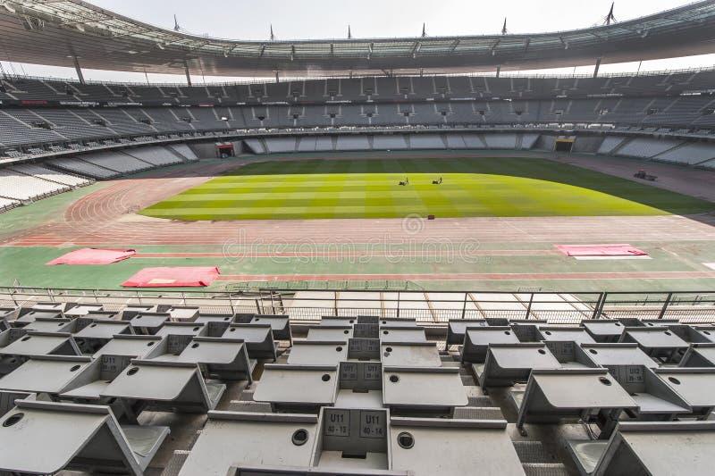 Press Box at Stade de France royalty free stock photos