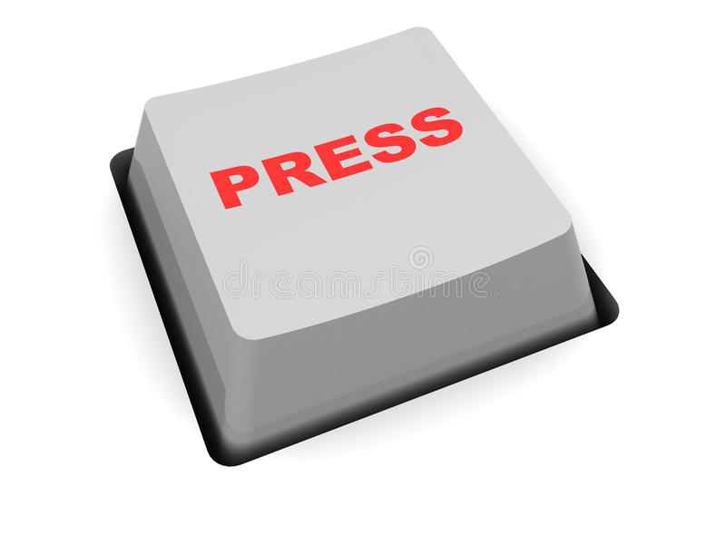 Download Press button stock illustration. Image of caption, sign - 10864184