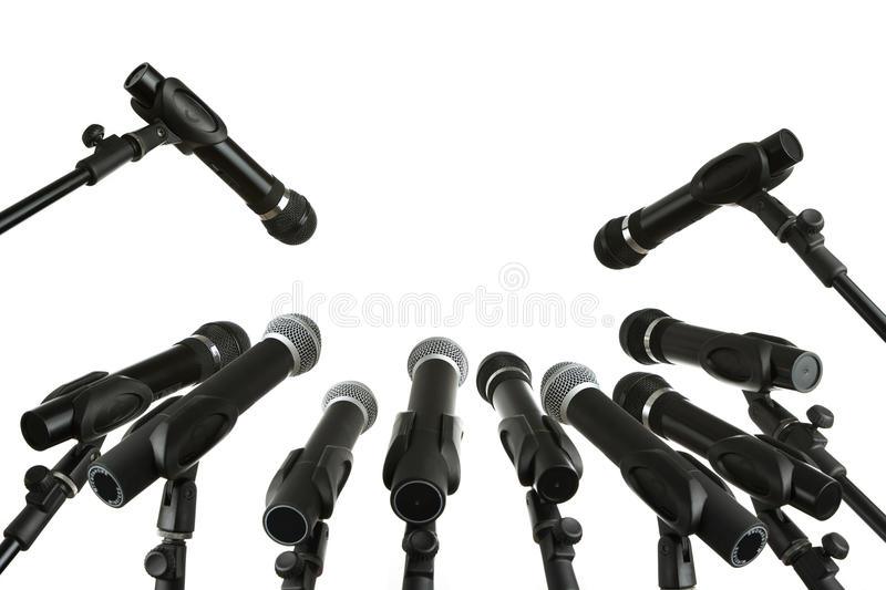 Press conference royalty free stock image