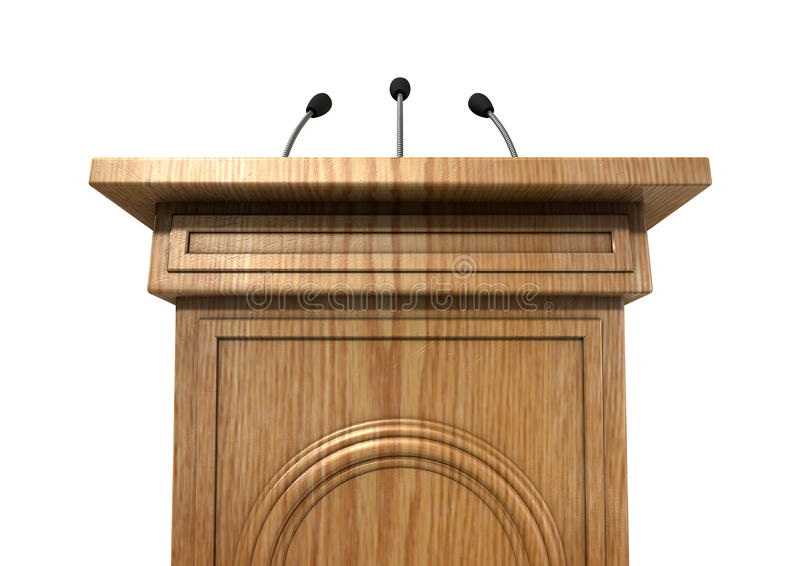 Press Conference Podium royalty free stock image