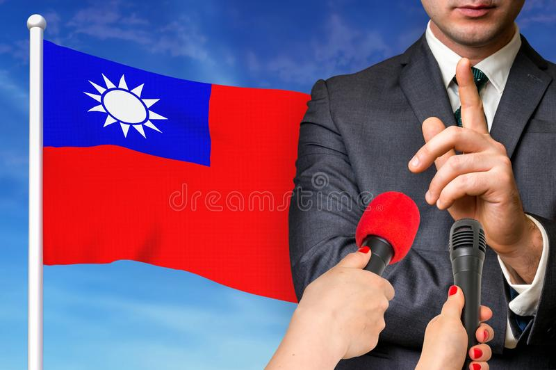 Press conference in Taiwan royalty free stock photos