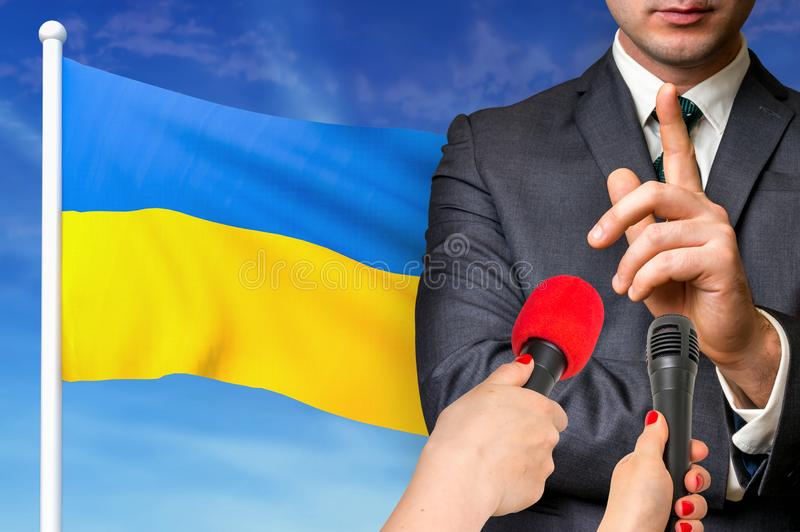Press conference in Ukraine royalty free stock image