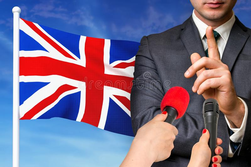 Press conference in United Kingdom royalty free stock images
