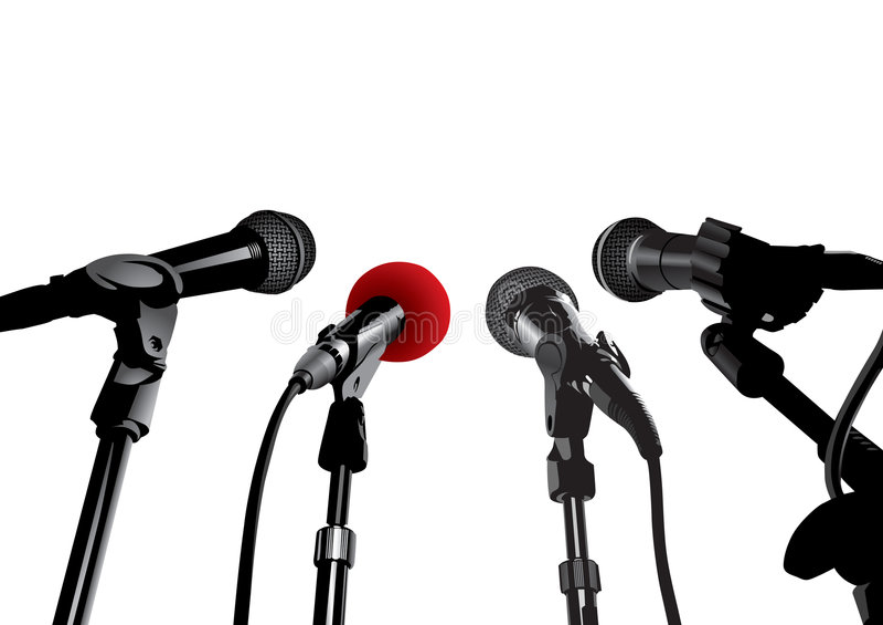 Press Conference (vector) vector illustration