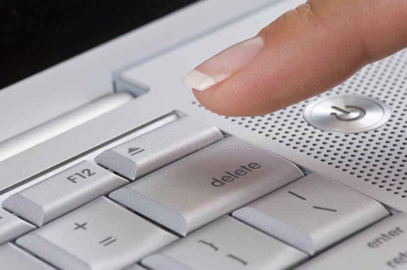 Download Press delete stock image. Image of computer, caucasian - 15225835