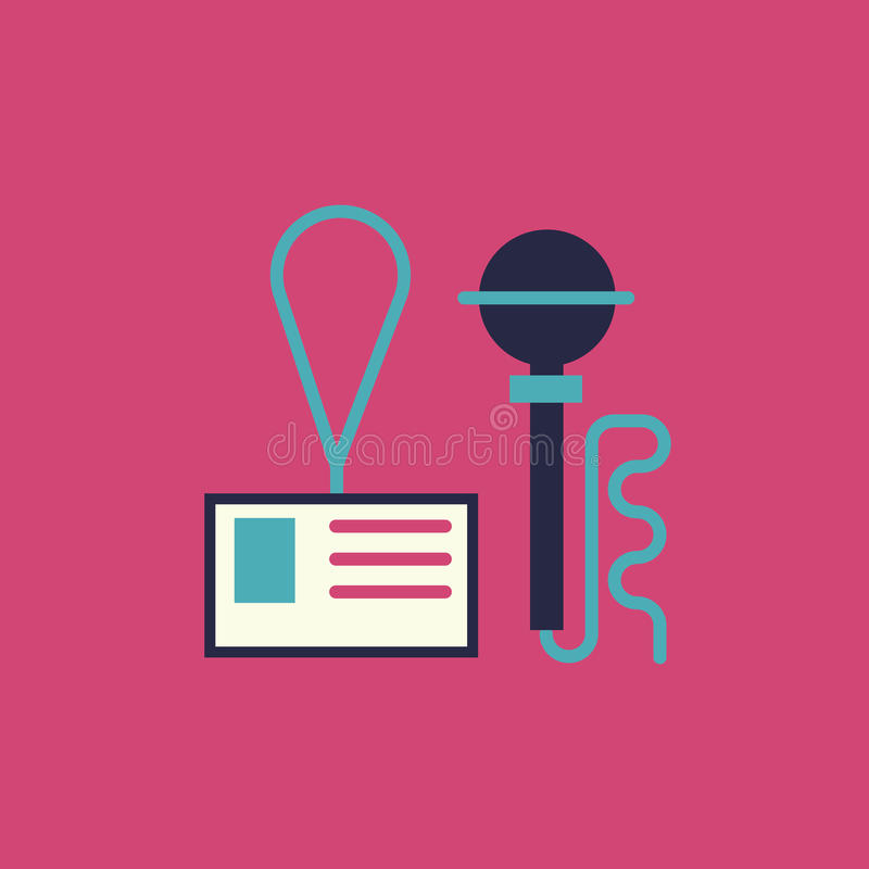 Press event icon. royalty free illustration