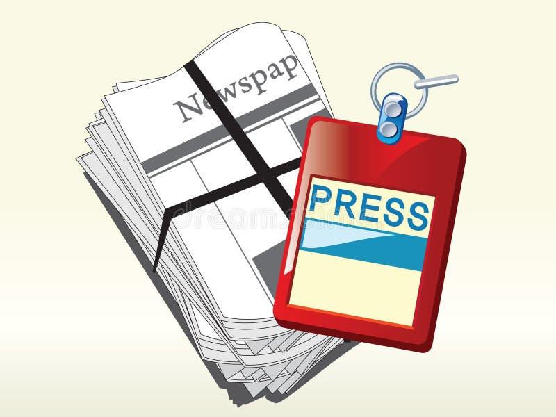 Press ID card royalty free illustration
