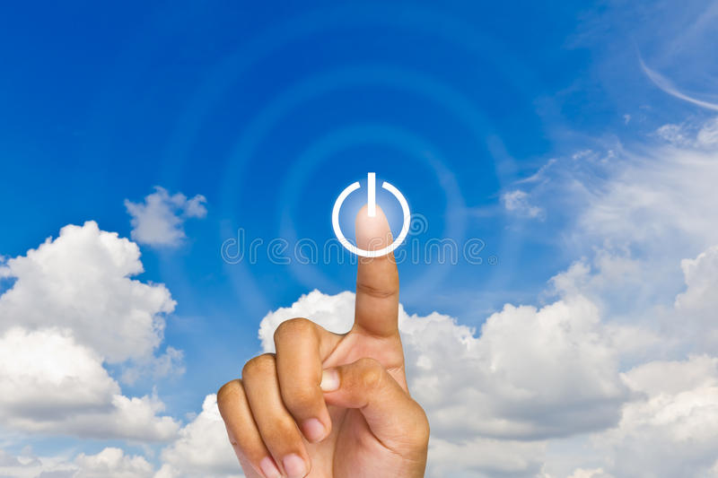 Download Press Illuminated Switch-on Touchscreen Button Stock Photography - Image: 21677962