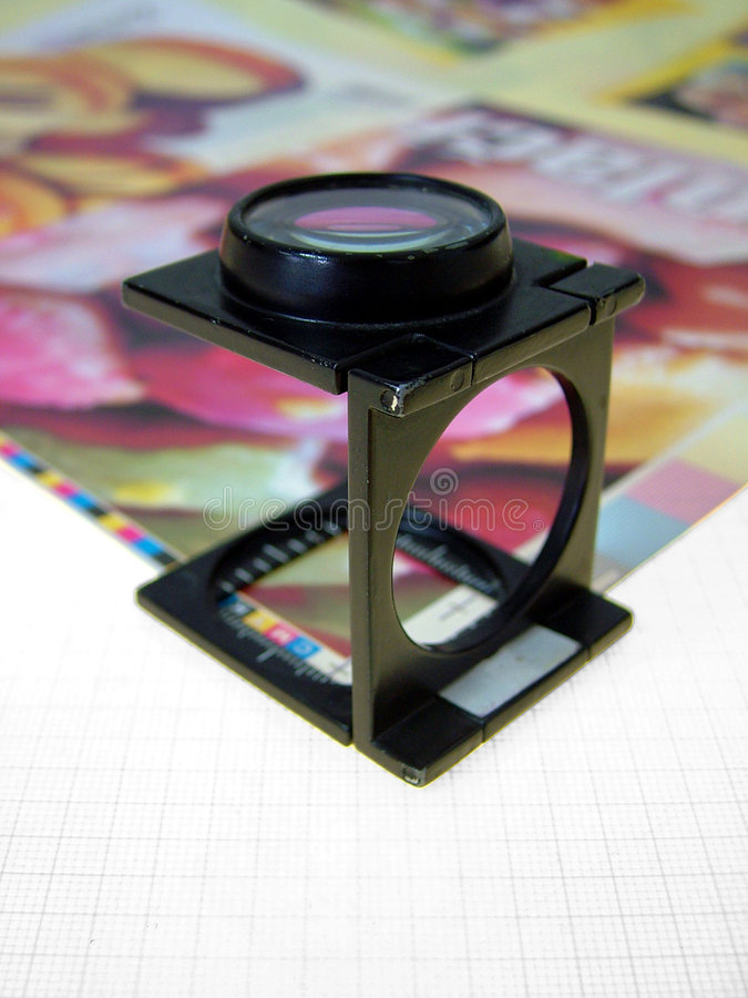 Press magnifying glass 2 royalty free stock photos