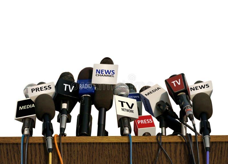 Press och massmediakonferens royaltyfria bilder