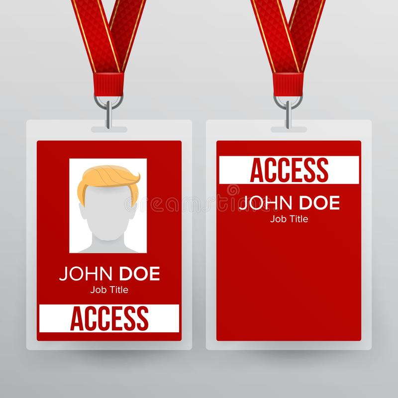 Press Pass Id Card Vector Plastic Badge Template To Business - Event badge template
