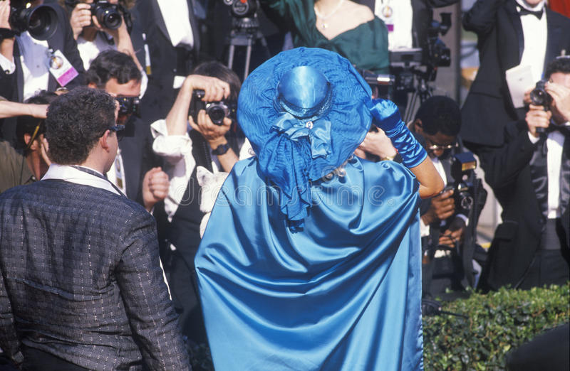 Press Photographing Celebrities at the 62nd Annual Academy Awards, Los Angeles, California royalty free stock photo