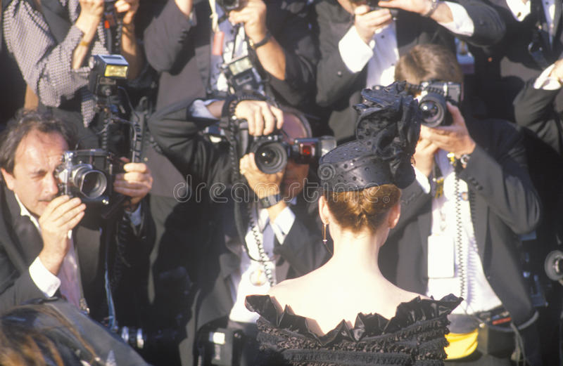 Press Photographing Celebrity at the 62nd Annual Academy Awards, Los Angeles, California royalty free stock photo