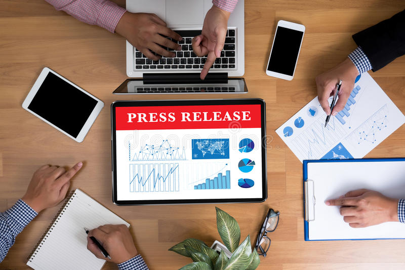 Press Release stock photography