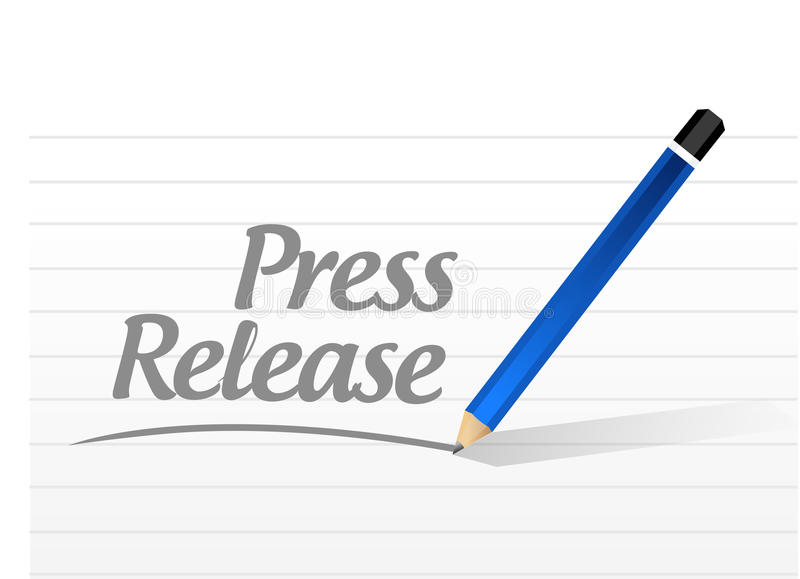 press release message sign illustration royalty free illustration