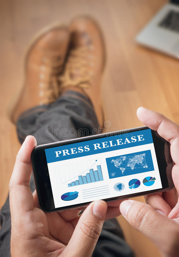 Press Release royalty free stock photography