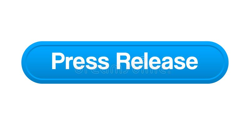 Press release button royalty free illustration