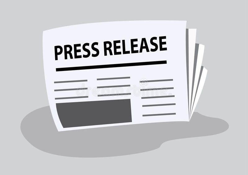 Press release written on newspaper vector illustration