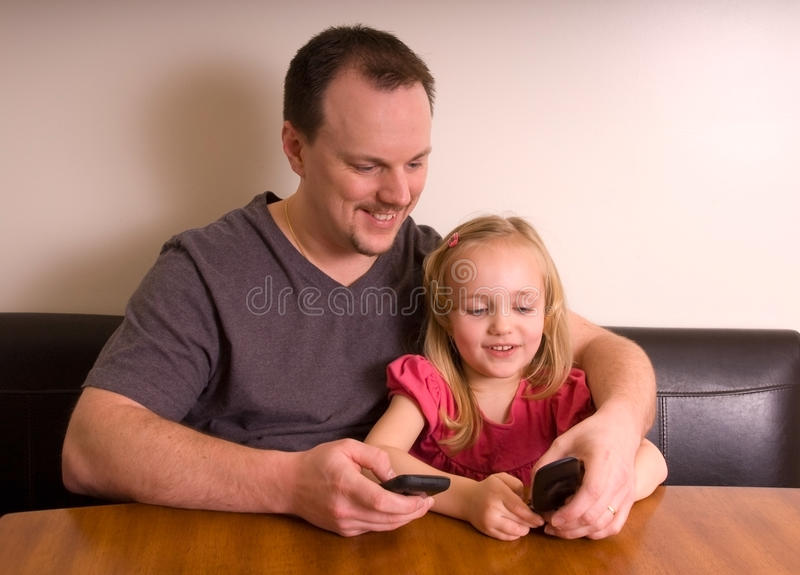 Download Press Send stock image. Image of wall, daughter, mobile - 13221627