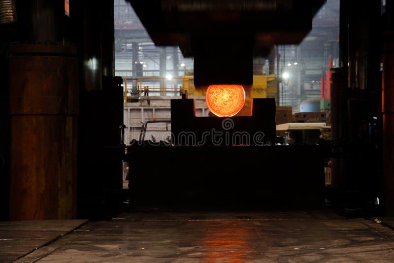 Download Press Squezzing Metal Billet Stock Image - Image: 6991061