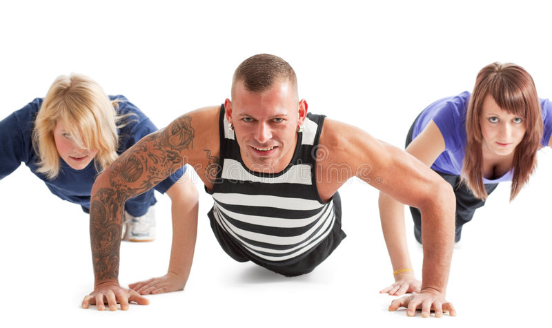 Download Press-up stock photo. Image of masculine, people, group - 9180324