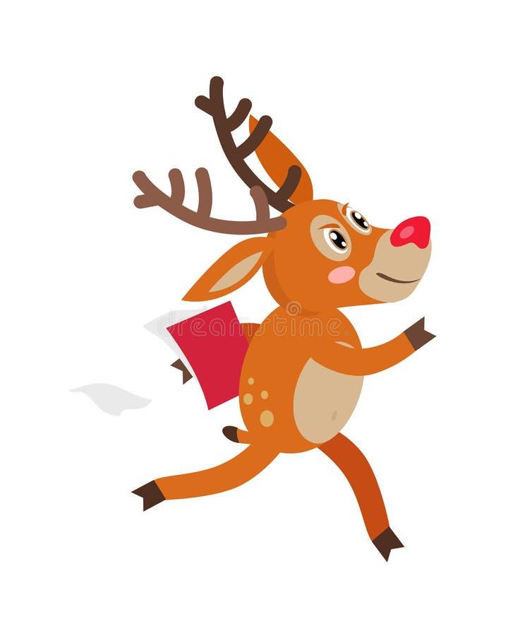 Pressa dos cervos em desenhos animados lisos do vetor dos desenhos animados do negócio ilustração do vetor