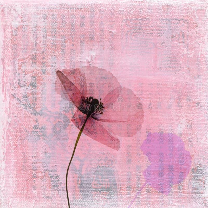 pressande blommavallmo stock illustrationer