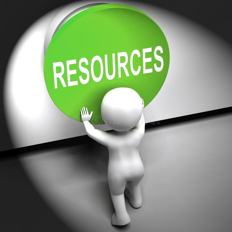 Pressande resurser betyder huvudfonder eller personalen stock illustrationer