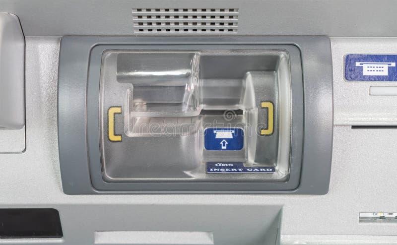Presse ATM-Einsatzkarte stockbilder
