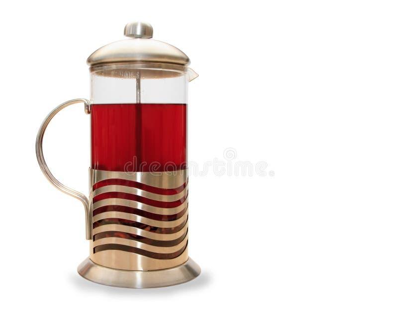 Presse de Fran?ais pour faire le caf? et le th? image libre de droits