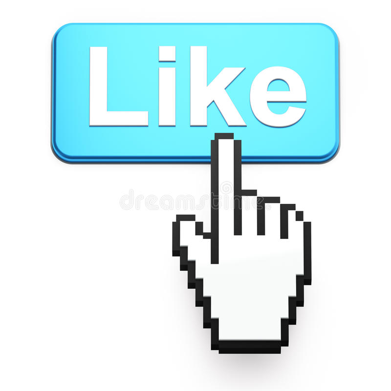 presse Main-formée de curseur de souris comme le bouton illustration libre de droits