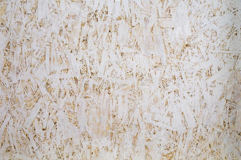 Pressed wood painted white, background. royalty free stock images