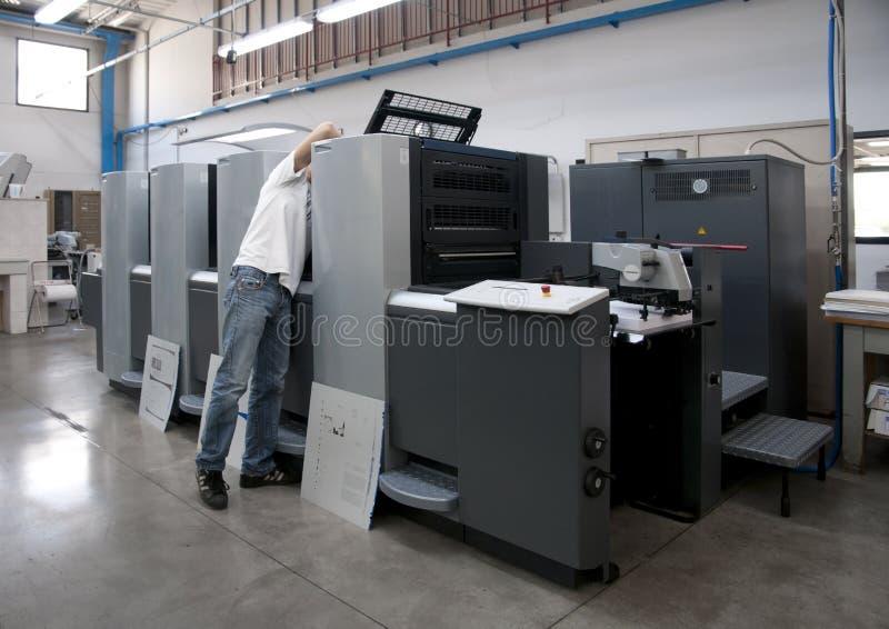 Pressedrucken (Druckerei) - Versatz stockfotografie