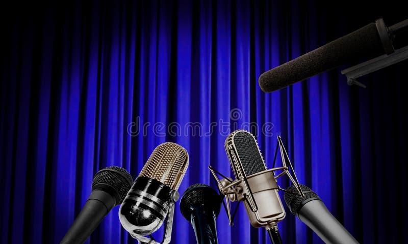 Pressekonferenz stockbild