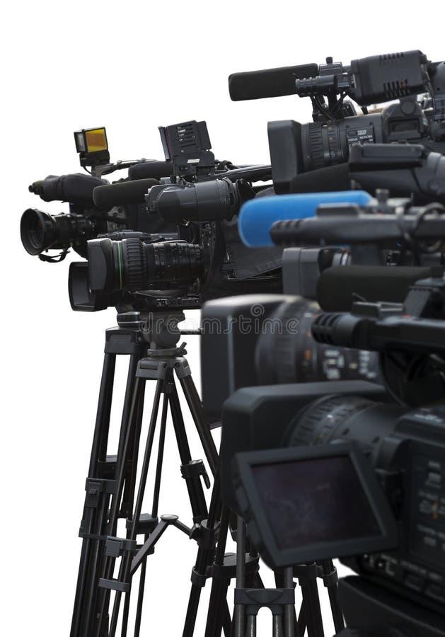 Pressekonferenz stockfotografie