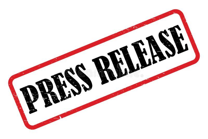 Pressemitteilungsstempel lizenzfreie abbildung