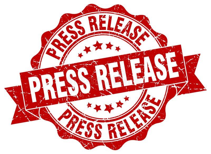 Pressemitteilungsstempel dichtung lizenzfreie abbildung