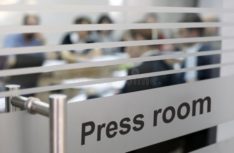 Presseraum stockfotografie