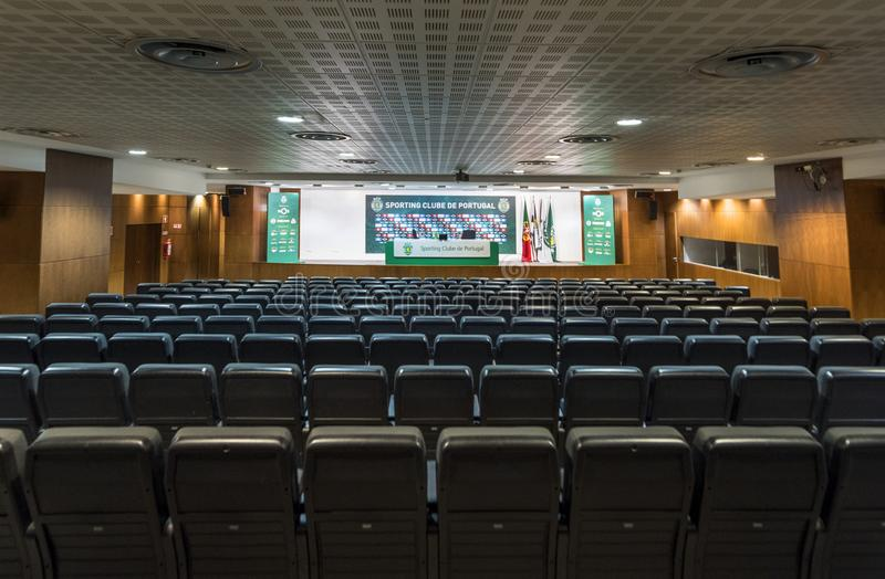 Presseraum in Jose Alvalado-Arena lizenzfreie stockfotografie