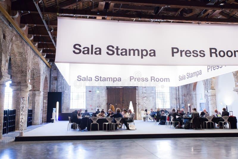 Presseraum, Venedig-biennal stockfoto