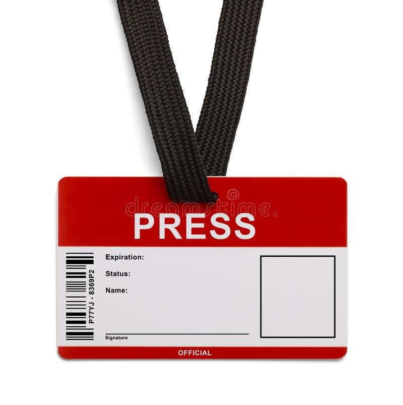 Pressez la carte d'identification images stock
